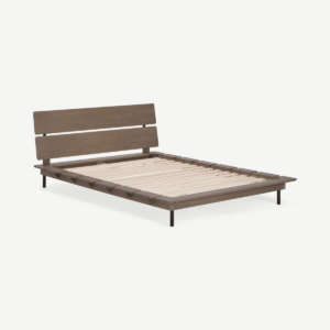 Ami King Size Bed, Dark Stain Pine